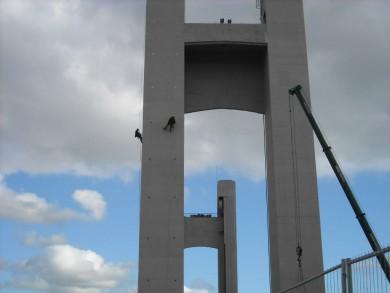 Reprise des étanchéités après dépose des échafaudages du pont de Recouvrance - Brest