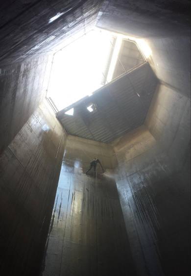 Lavage haute pression intérieur silo - Pleran