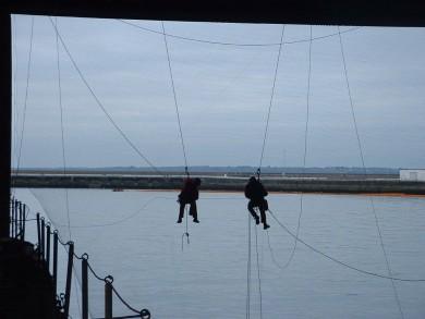 Réparation de filet anti-étourneaux - Brest