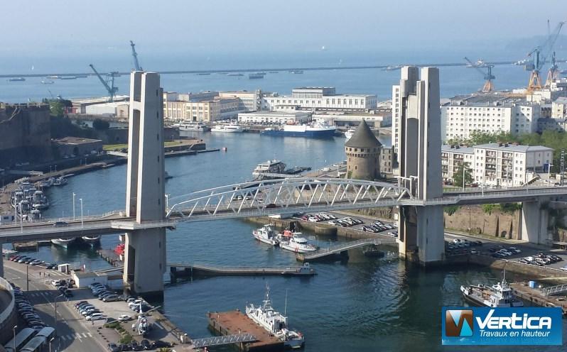 Pont de Recouvrance vu du haut du Téléphérique de Brest