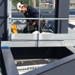 Juliette, technicienne cordiste sur le chantier du téléphérique de Brest
