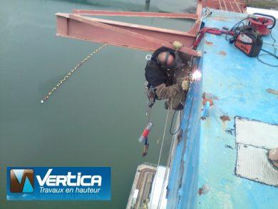 Travaux de soudage - Port de Lorient