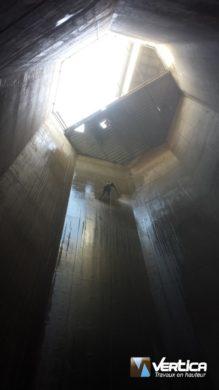 Lavage haute pression silo industriel