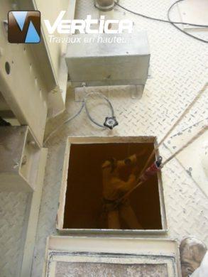 Nettoyage en hauteur silo a farine