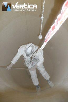 Nettoyage silo farine
