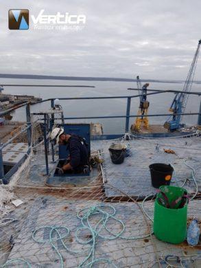 Chantier an hauteur port de Brest
