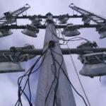 Pose des cables d'alimentation