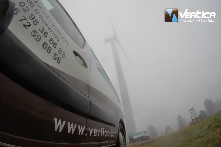 maintenance des éoliennes de Plomodiern