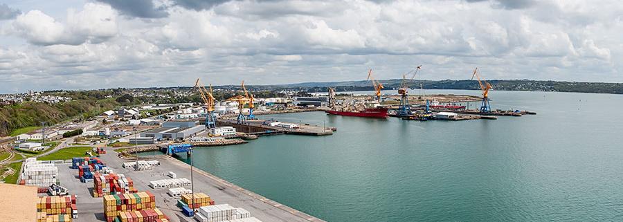 Grue Paris port de Brest